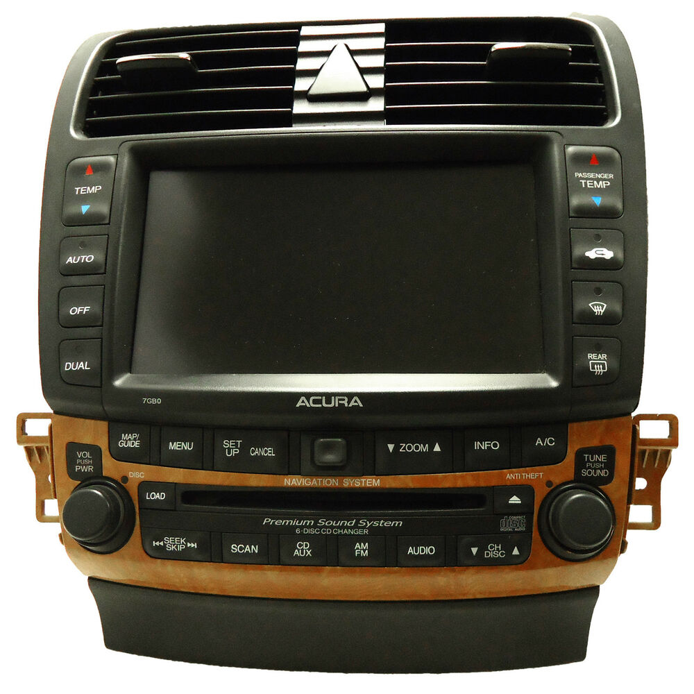 ACURA TSX Navigation GPS System Radio 6 Disc Changer CD