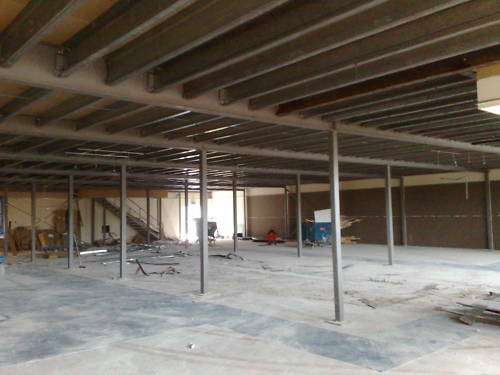 Mezzanine floor mezzanine floors 500 sq mtr 39 s ebay for How to build a mezzanine floor in your home