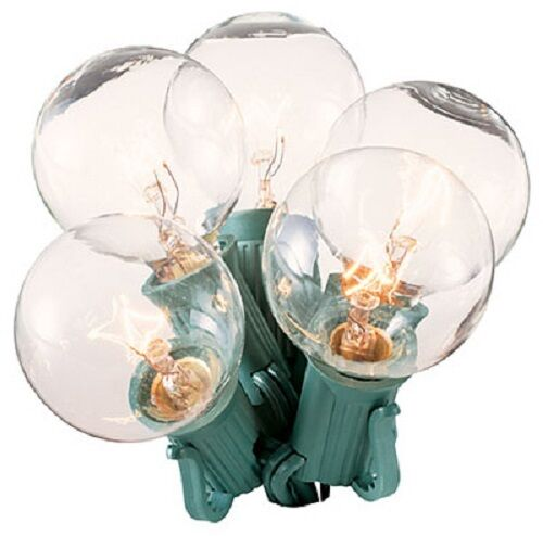 Target Globe String Lights Replacement Bulbs : 12 Holiday Wonderland 1059-88 2 Pack Clear G40 Replacement Christmas Light Bulbs eBay