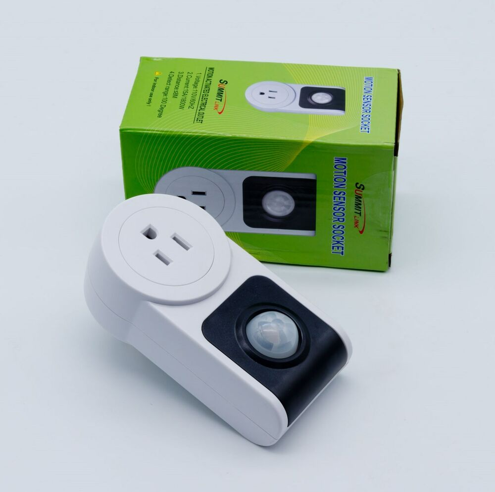 Motion Sensor Activated Power Socket Electrical Outlet Ebay