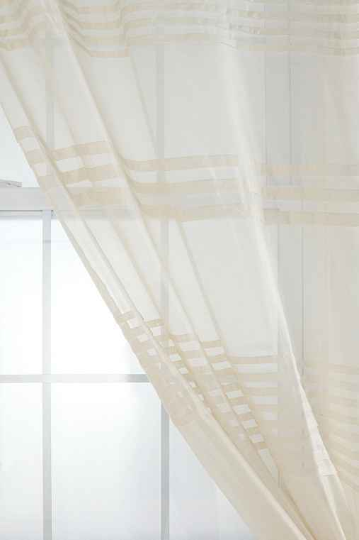New urban outfitters plum bow pleated ivory curtain window panel 44 quot x