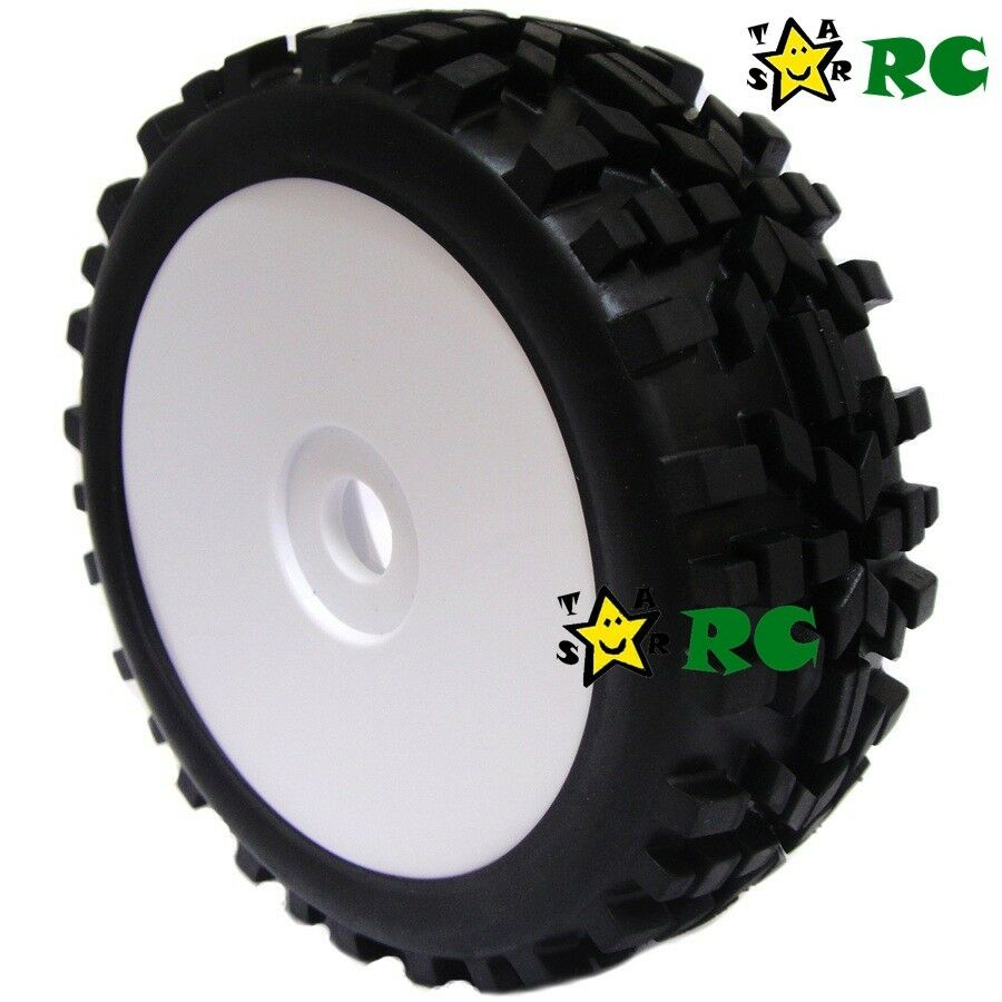 2pcs 1 8 rc all terrain buggy tires wheels for hpi xtr badlands car upgrade ebay. Black Bedroom Furniture Sets. Home Design Ideas
