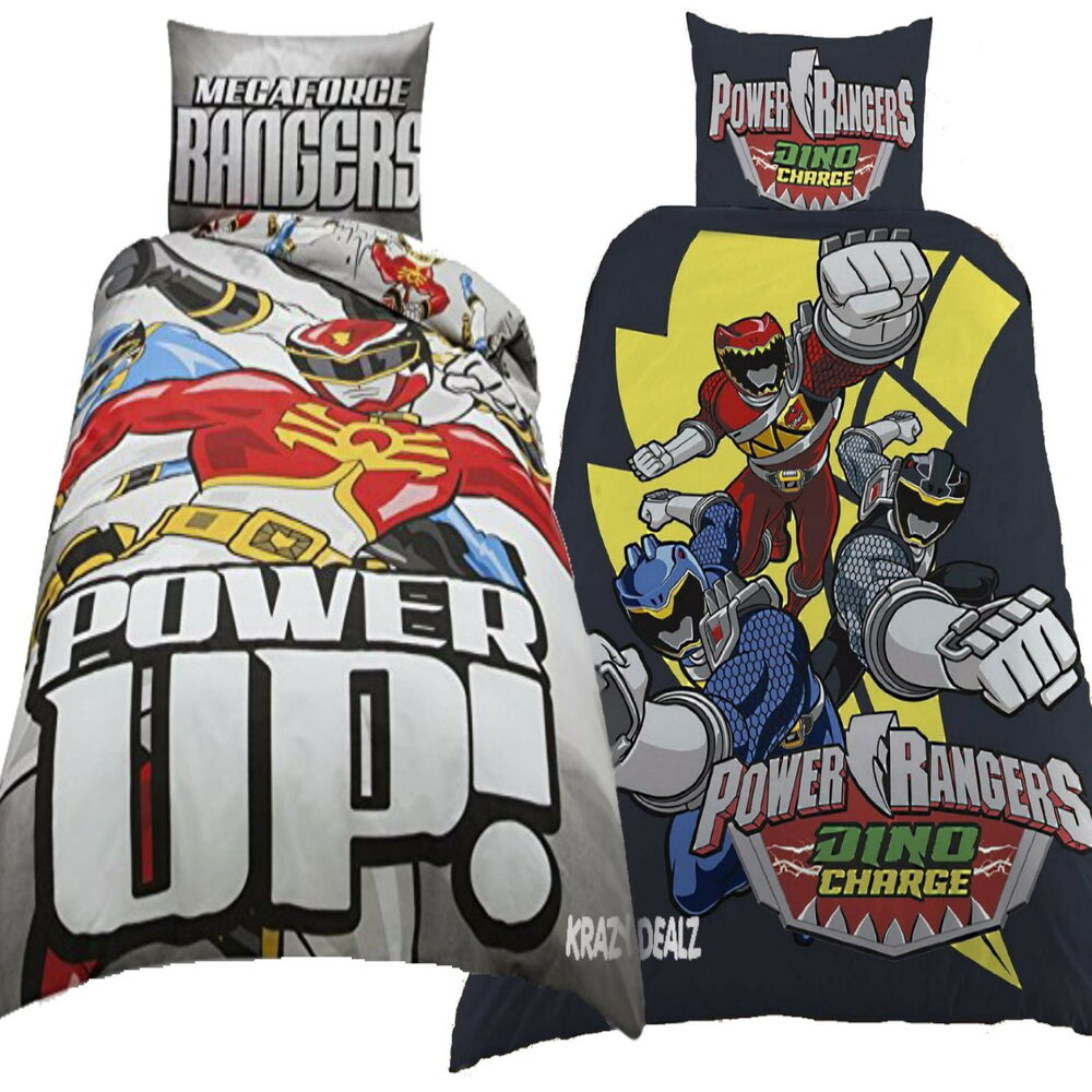 power rangers megaforce dino charge single panel duvet cover bed set