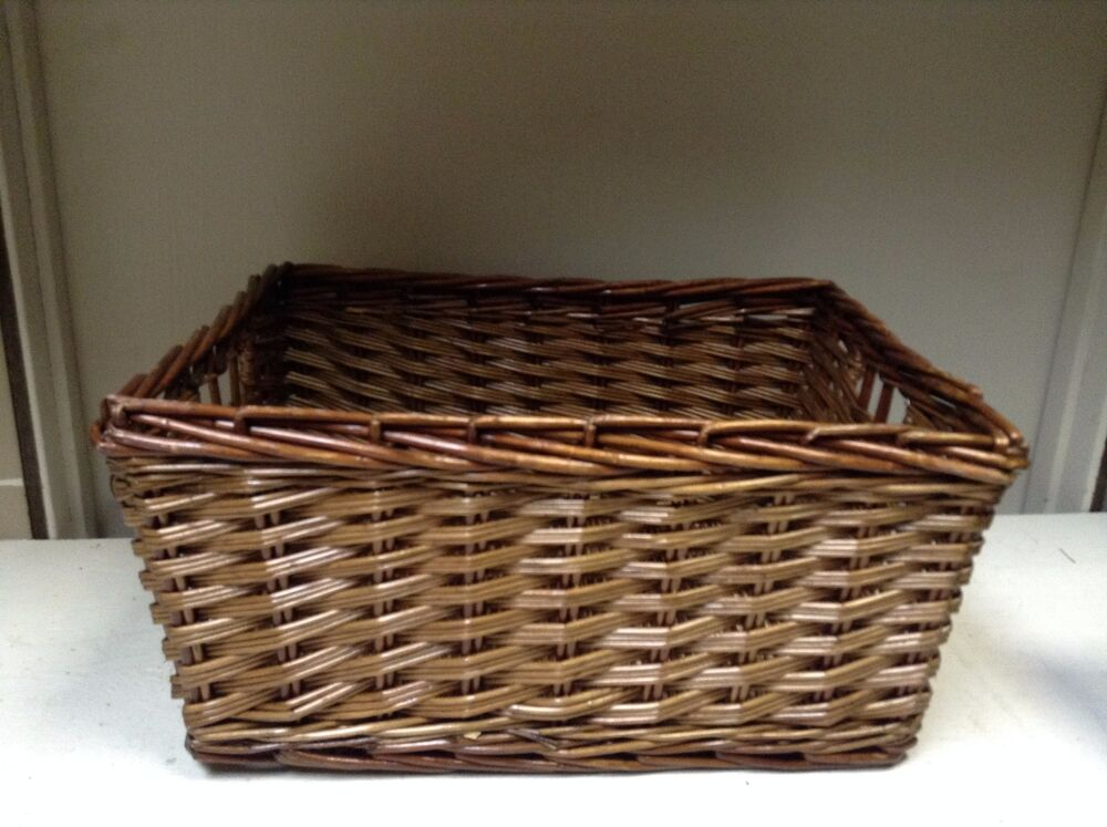 small woven wood wicker storage organization toy laundry. Black Bedroom Furniture Sets. Home Design Ideas