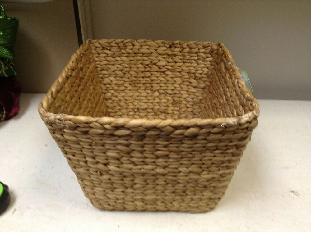 kitchen storage baskets hyacinth woven seagrass storage organizer bath kitchen 3119