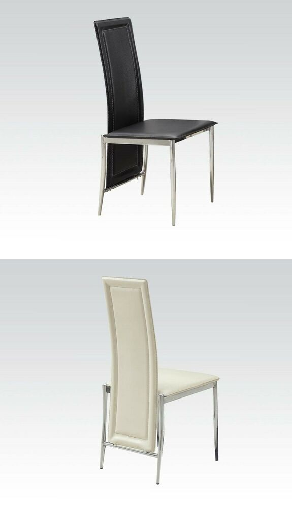 Black Or Cream Color Modern Dining Chairs In Different