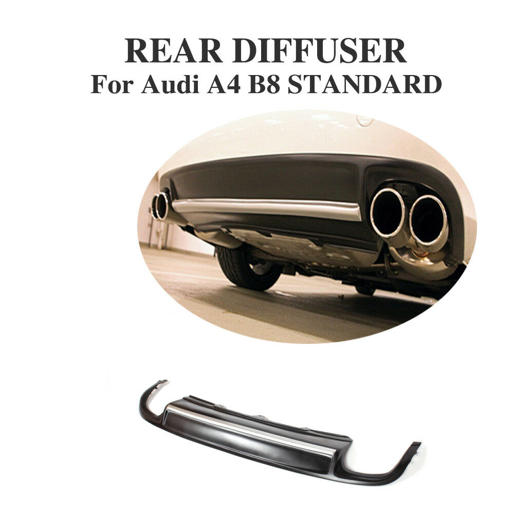 rear lip diffuser silver strip spoiler fit for audi a4 b8. Black Bedroom Furniture Sets. Home Design Ideas