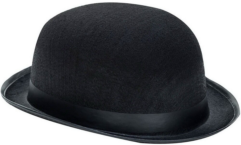 classic black derby steampunk charlie chaplin hat cap. Black Bedroom Furniture Sets. Home Design Ideas