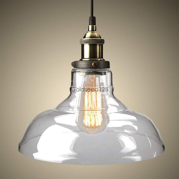Ceiling Lights With Edison Bulbs : Diy glass ceiling light vintage retro chandelier pendant