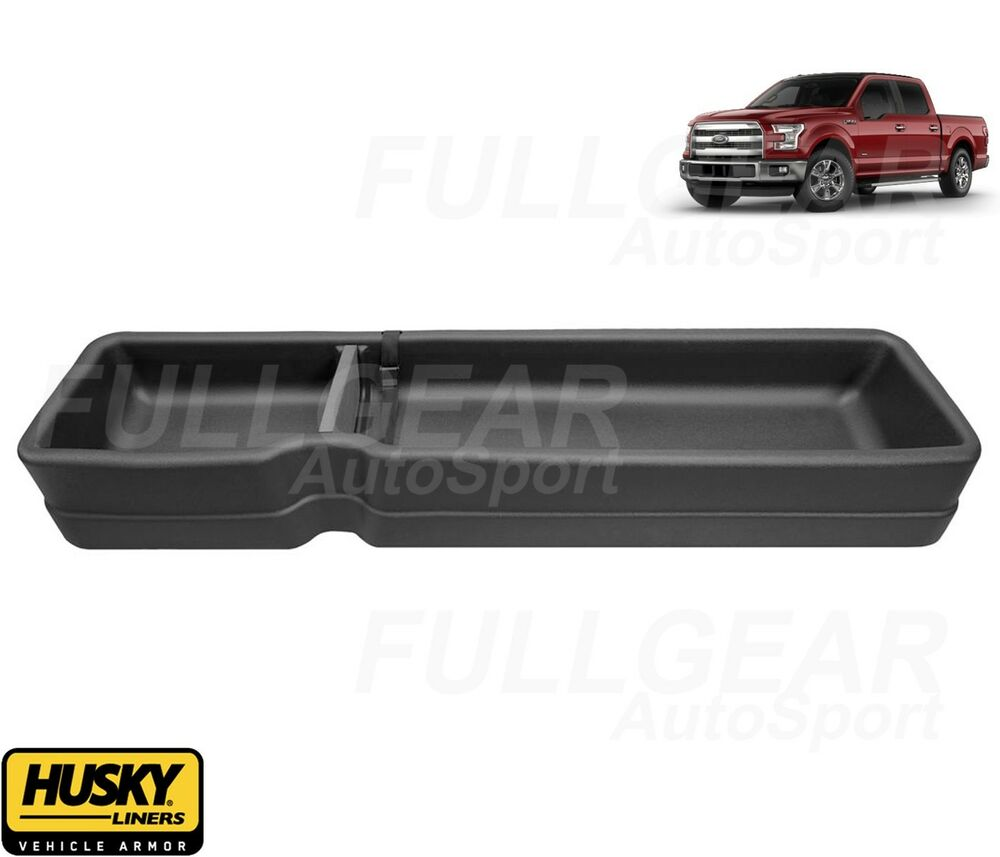 2015 Ford F150 Supercrew Cab Interior: HUSKYLINER GEARBOX REAR UNDER SEAT STORAGE FOR FORD F150