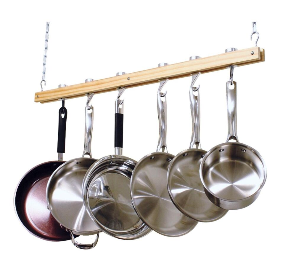 Ceiling mount hanging pot pan rack organizer storage for Pot racks for kitchen