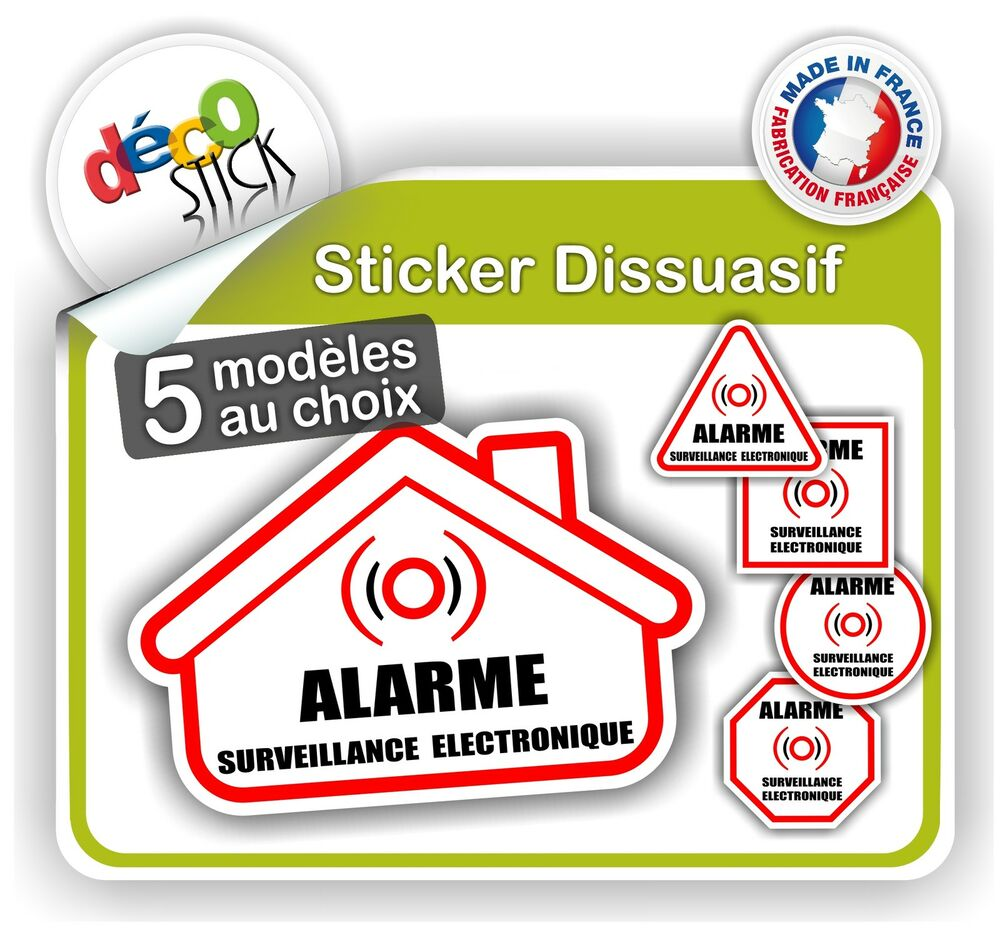 alarme sticker autocollant surveillance somfy diagral hager delta dore s curit ebay. Black Bedroom Furniture Sets. Home Design Ideas