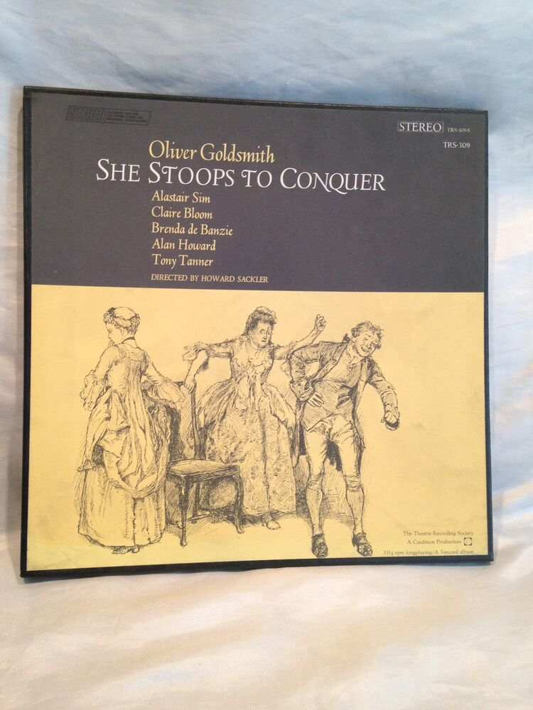 Vintage 1965 Oliver Goldsmith She Stoops To Conquer 3 Record