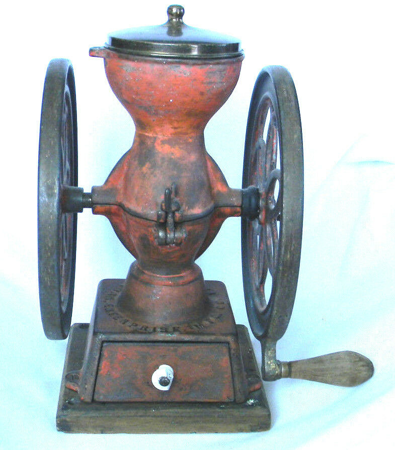 Old Coffee Grinders ~ Antique cast iron enterprise coffee grinder mill