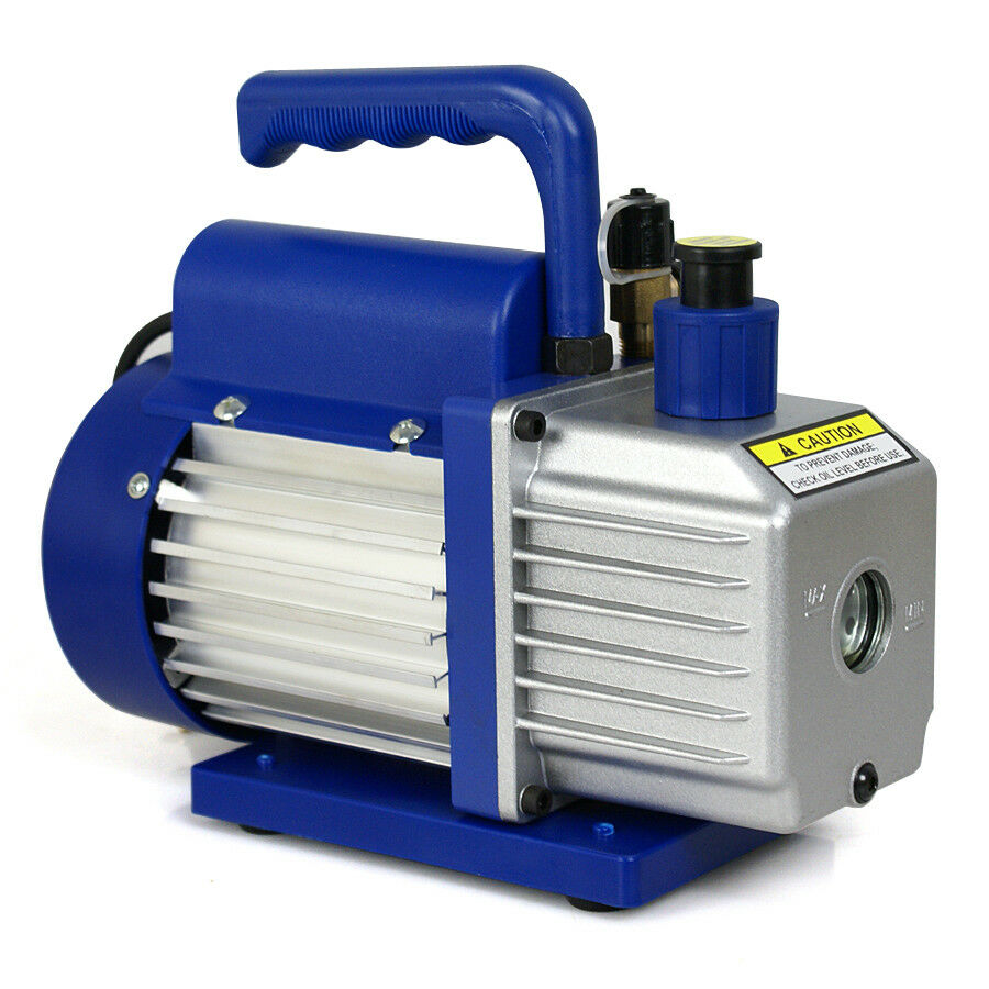 Commercial Rotary Blower : Cfm single stage rotary vane vacuum pump refrigerant