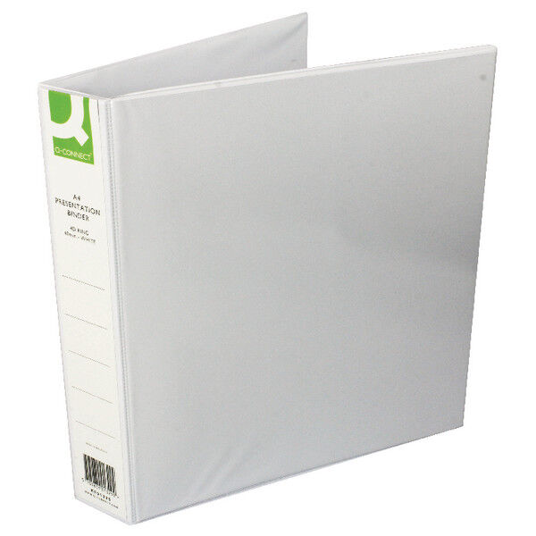Q-Connect Presentation 40mm A4 White 4D-Ring Binder (Pack