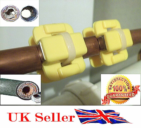 2 x HEALTHY/SOFTENER Magnetic Descaler Water Conditioner Limescale Remover