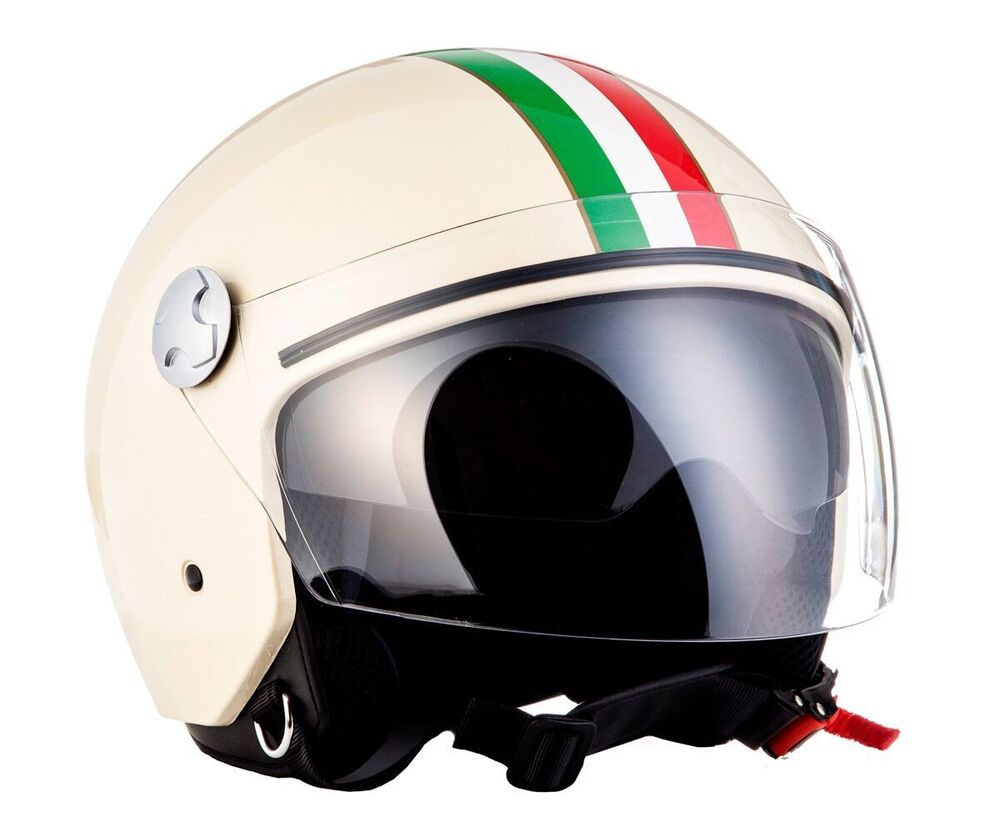 arrow av 63 italy creme jethelm jet retro vespa motorradhelm helm ece ebay. Black Bedroom Furniture Sets. Home Design Ideas