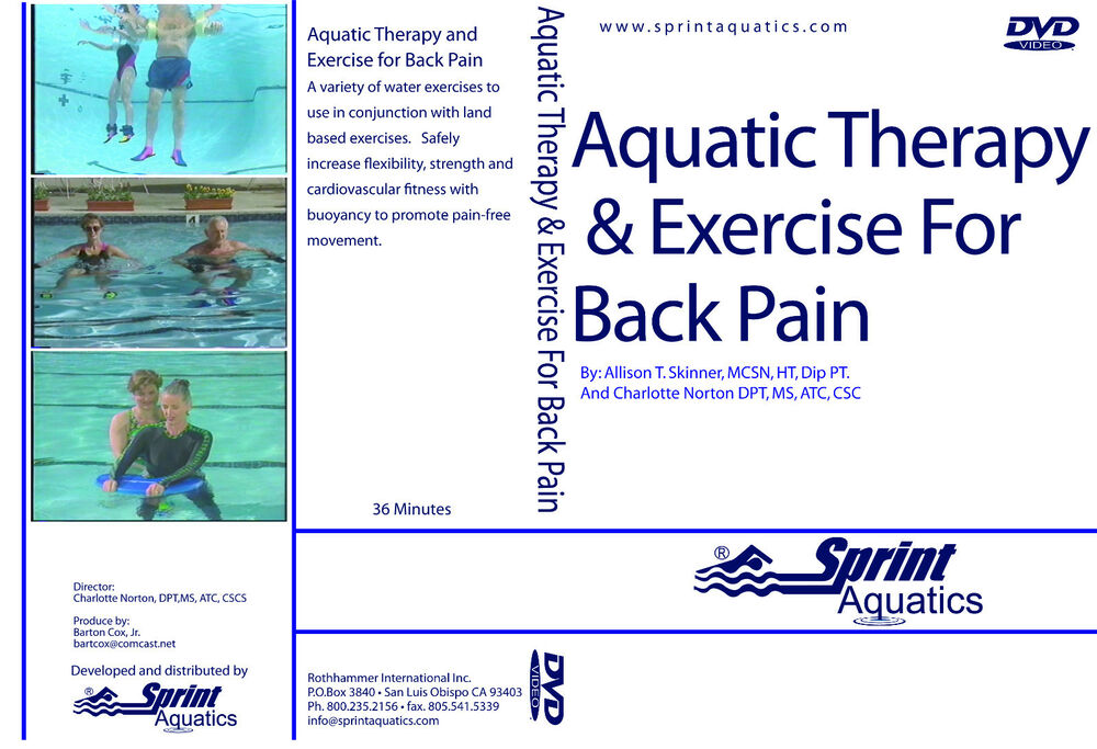 Aquatic Therapy and Exercise for Back Pain DVD FITNESS ...