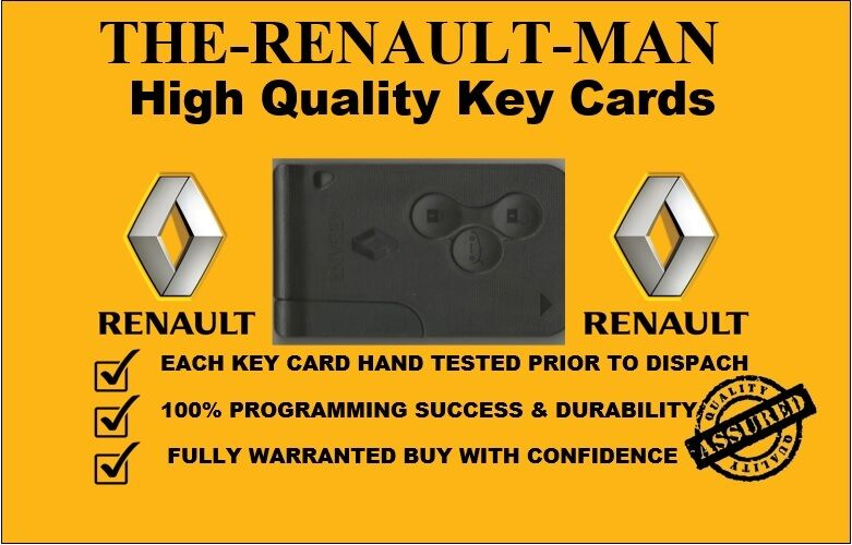 renault megane scenic clio 3 button remote key card. Black Bedroom Furniture Sets. Home Design Ideas
