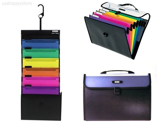 Document Organizer Wall Hanging Bright Color File Pocket