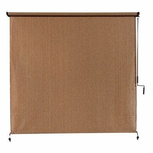 Exterior Cordless Roller Shade 6ft X 8ft Roll Up Crank Patio Outdoor Porch Blind Ebay
