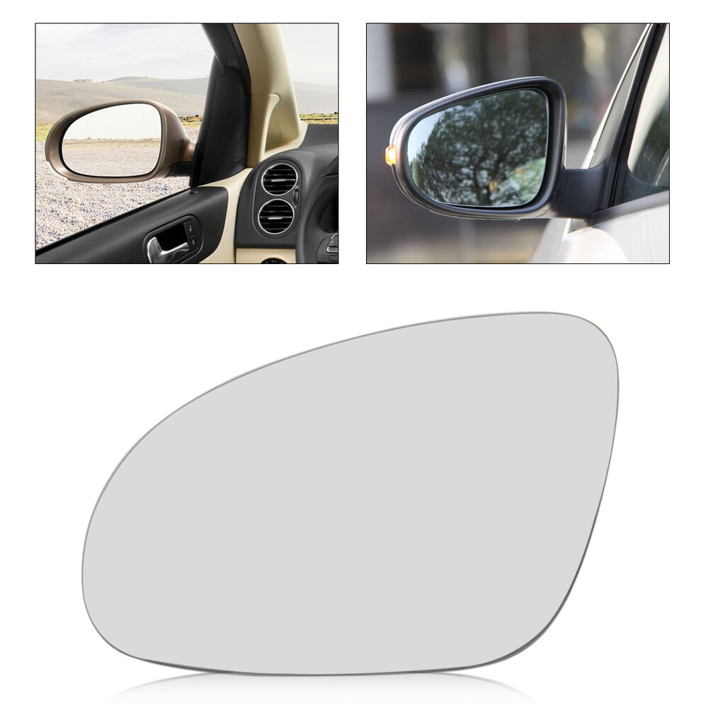 Car left side mirror glass heated w holder for vw golf gti for Mirror glass