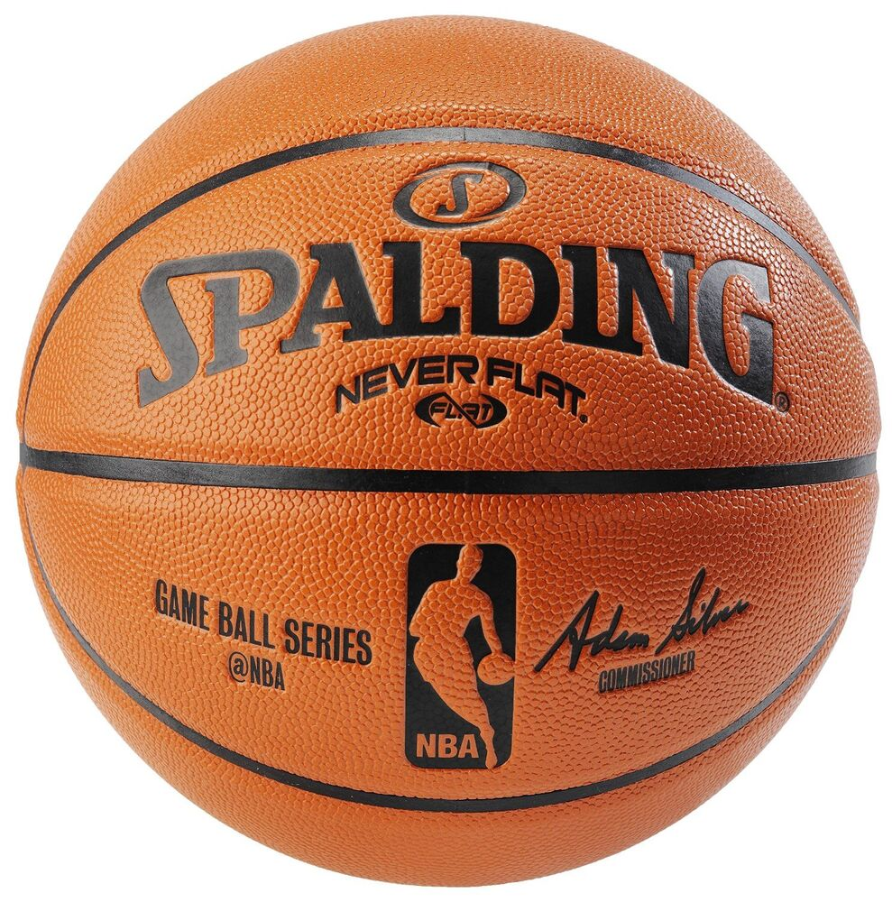 Spalding nba never flat game ball official size 7 29 5 indoor outdoor basketball ebay - Spalding basketball images ...