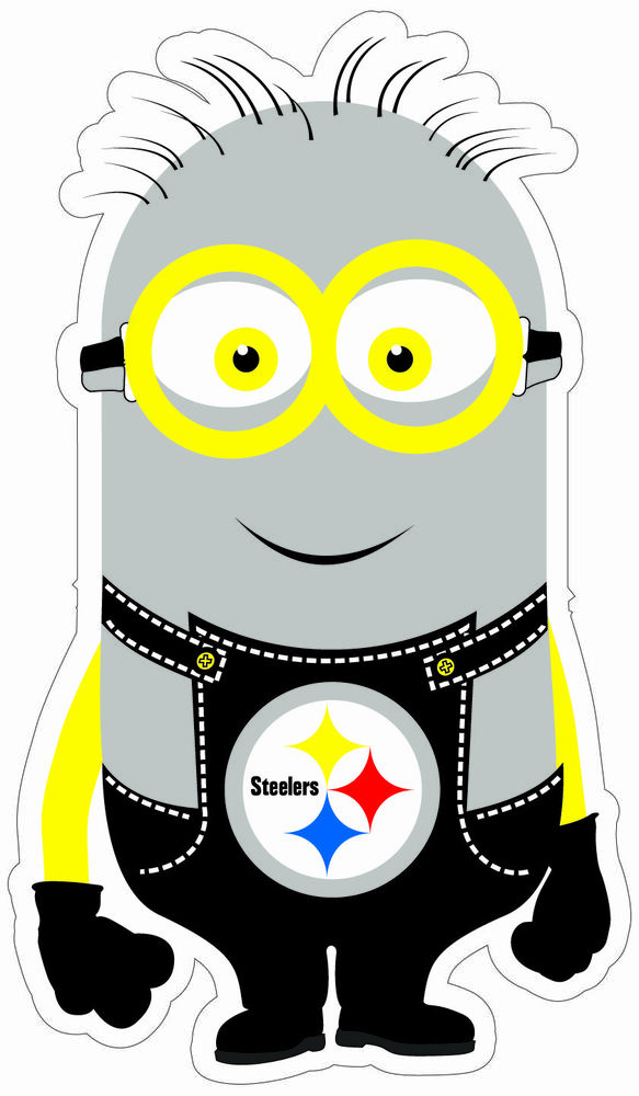 New Pittsburgh Steerlers Minion Decals Full Color Digital