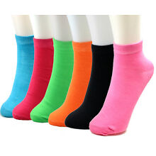 New 6-12 Pairs Womens Ankle Quarter Socks Size 9-11 Multi Colors Cotton Casual
