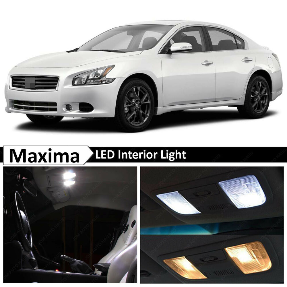 17x white led lights interior package for 2009 2014 maxima ebay. Black Bedroom Furniture Sets. Home Design Ideas