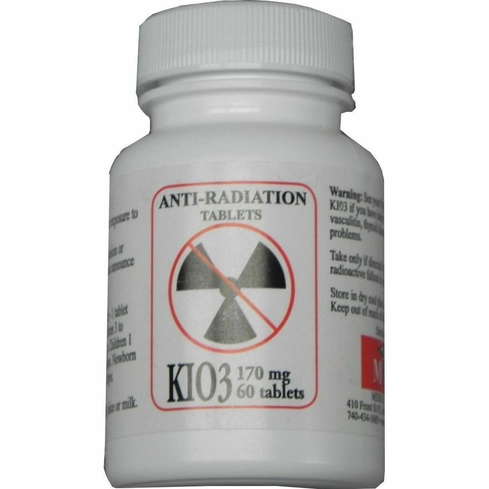 Potassium iodate pot 170mg 60 tablets medical corps kio3 for nuclear