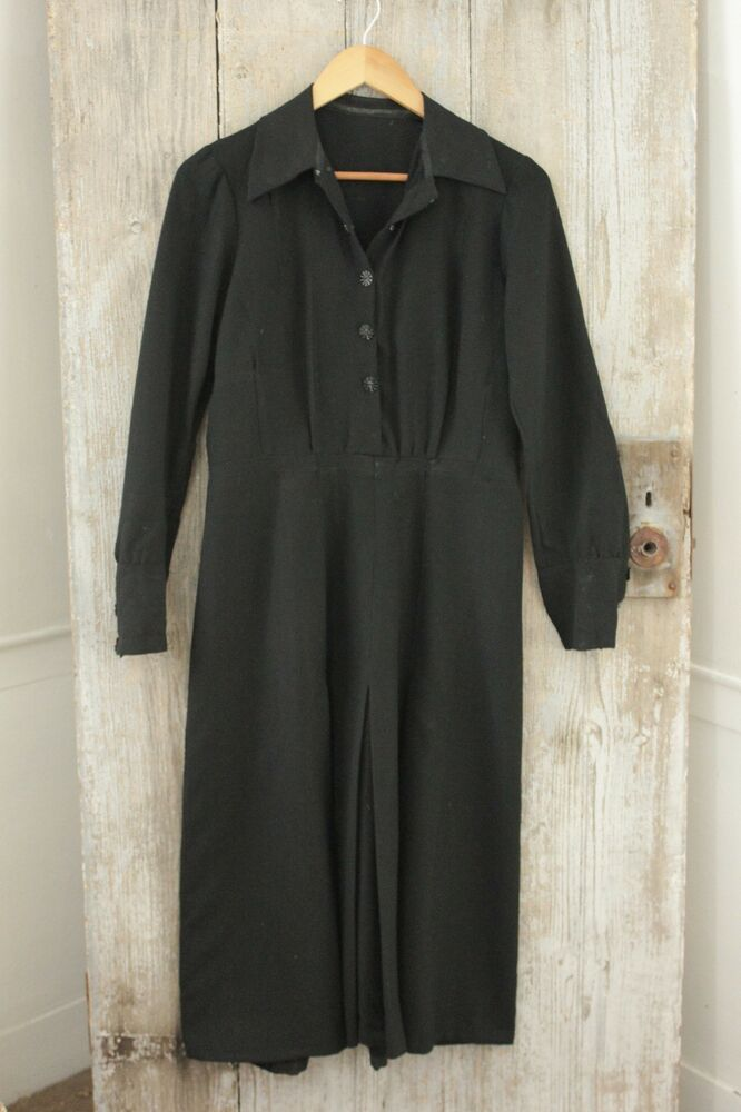 vintage dress c1940 s black s clothing ebay