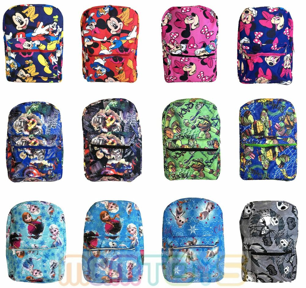 """Disney Mickey Minnie Mouse Avengers 16"""" Large Old School Backpack for ... Old School Mickey Mouse And Minnie"""