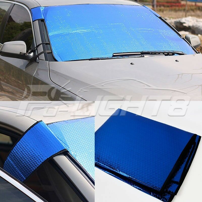 foldable windshield folding car sun shade auto visor front window block cover ebay. Black Bedroom Furniture Sets. Home Design Ideas