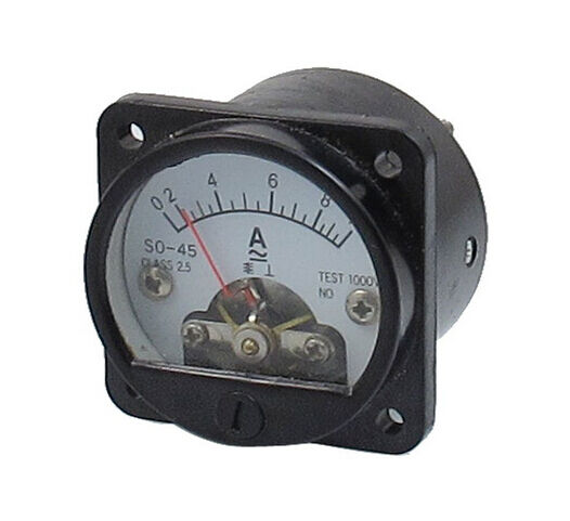 Round Analog Panel Meters : Class accuracy ac a round analog panel meter