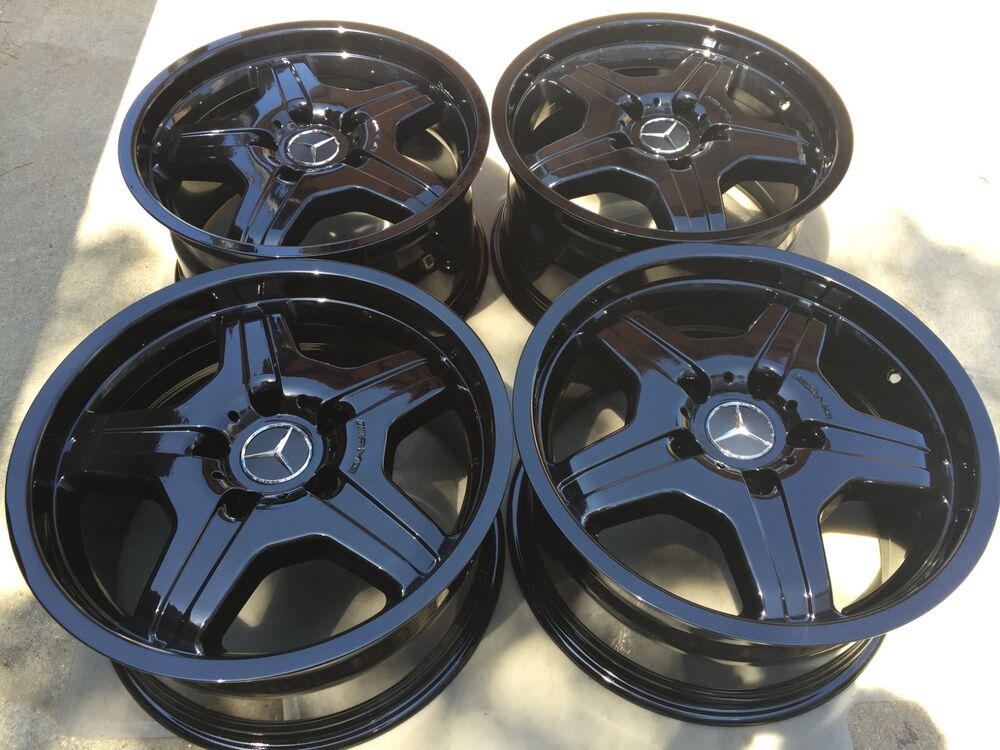"""Truck Rims And Tire Packages >> 18"""" BRAND NEW BLACK OEM FACTORY ORIGINAL MERCEDES G WAGON AMG WHEELS. 1978-UP. 