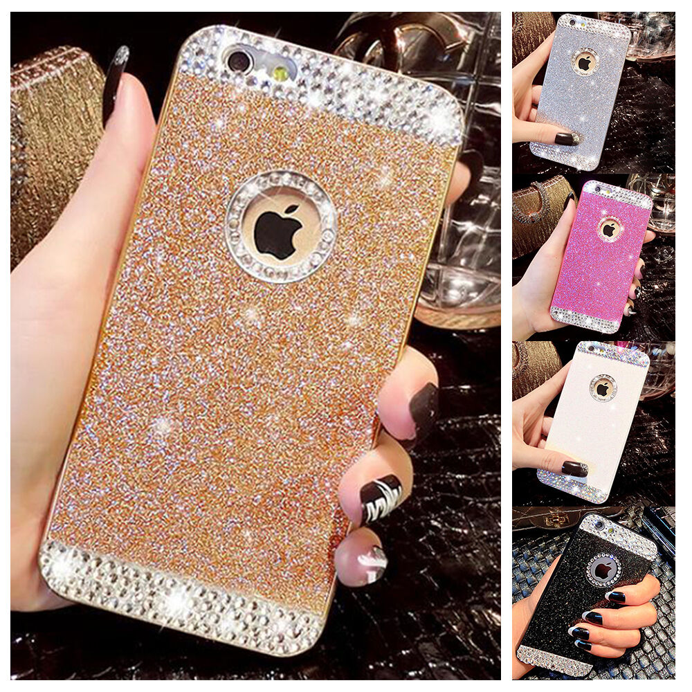 glitter iphone case for iphone 6 6s 5 5s mobile phone shell flip glitter 10701