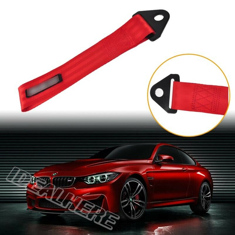 Vehicle Tow Straps : Red high strength vehicle auto racing recovery hook tow
