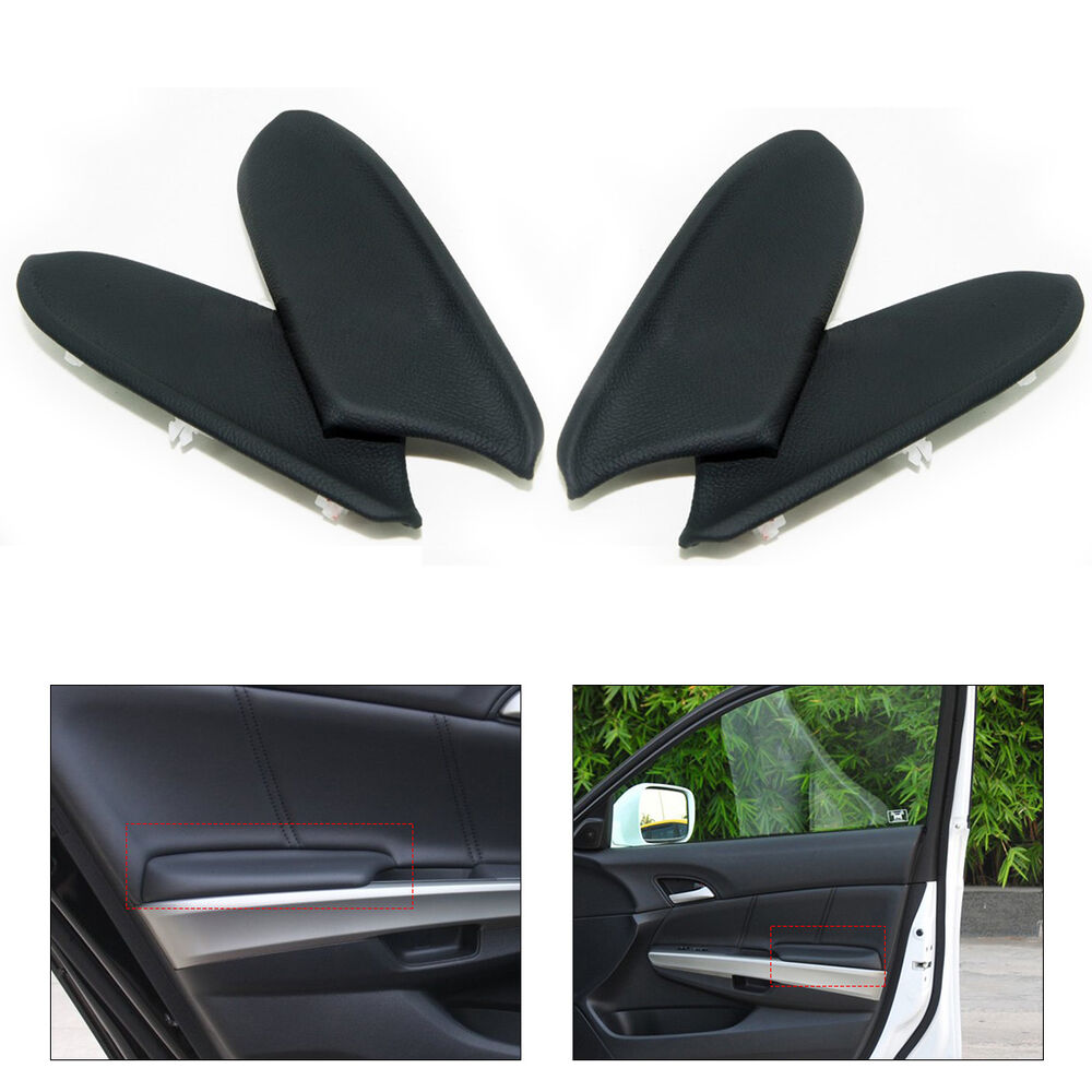 Leather Front Amp Rear Door Panel Armrest Cover For Honda