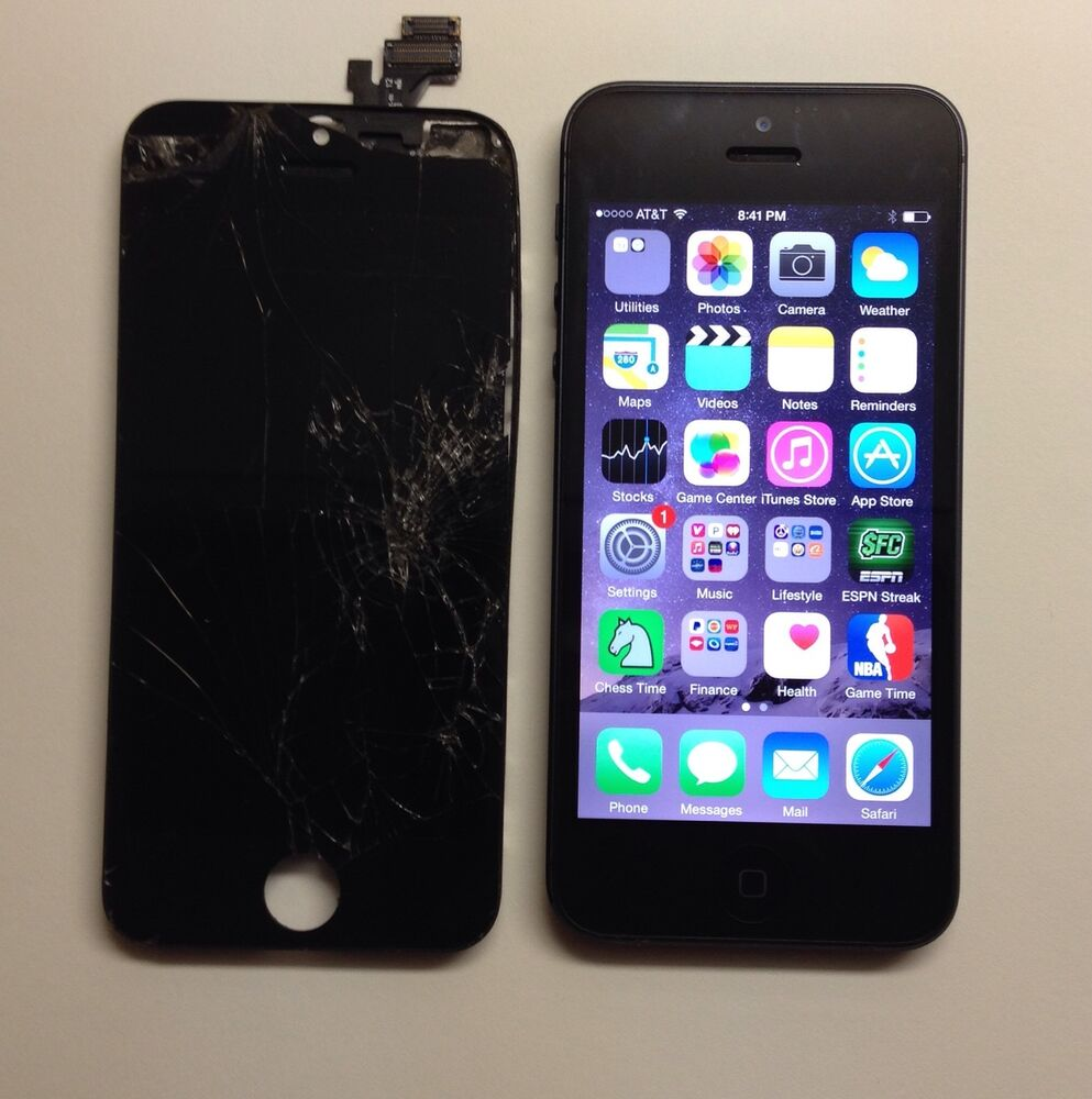 iphone 5c cracked screen iphone 5 5s 5c broken lcd glass screen repair 1794