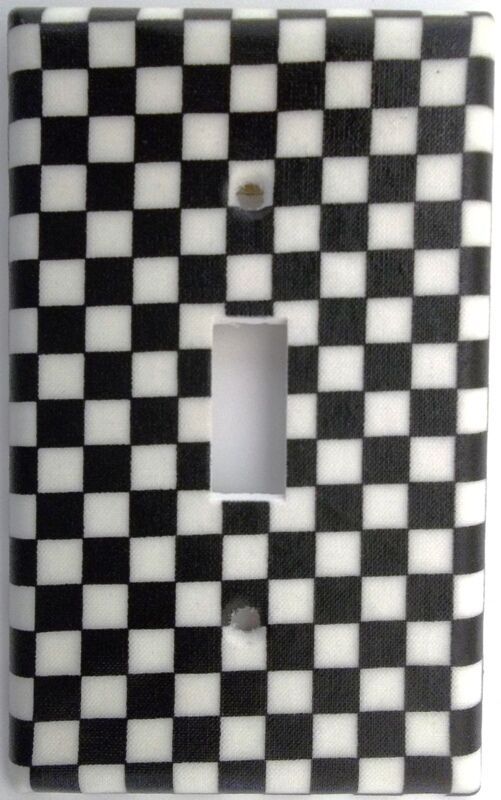 Checkered Flag Nascar Light Switch Plate Cover Outlet