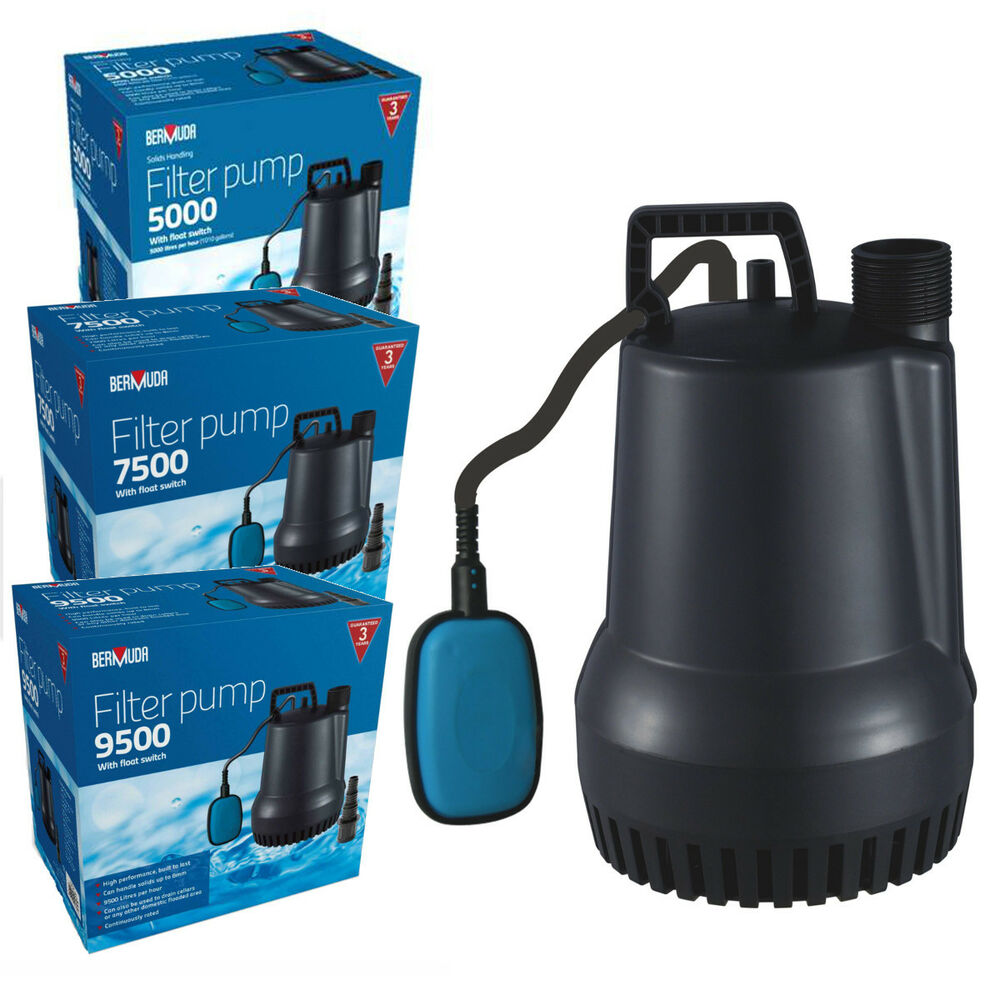Bermuda submersible filter pond pump with float switch for Submersible pond pump and filter