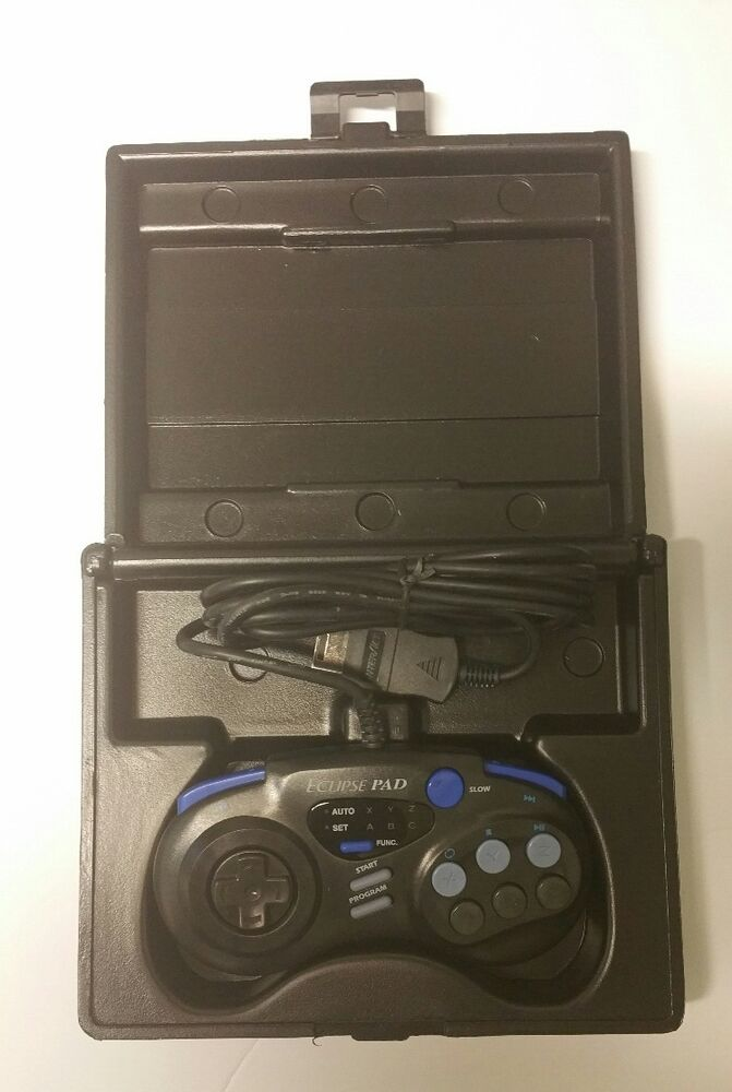 New Eclipse Controller In Black Protective Hard Carrying Case For Sega Saturn Ebay