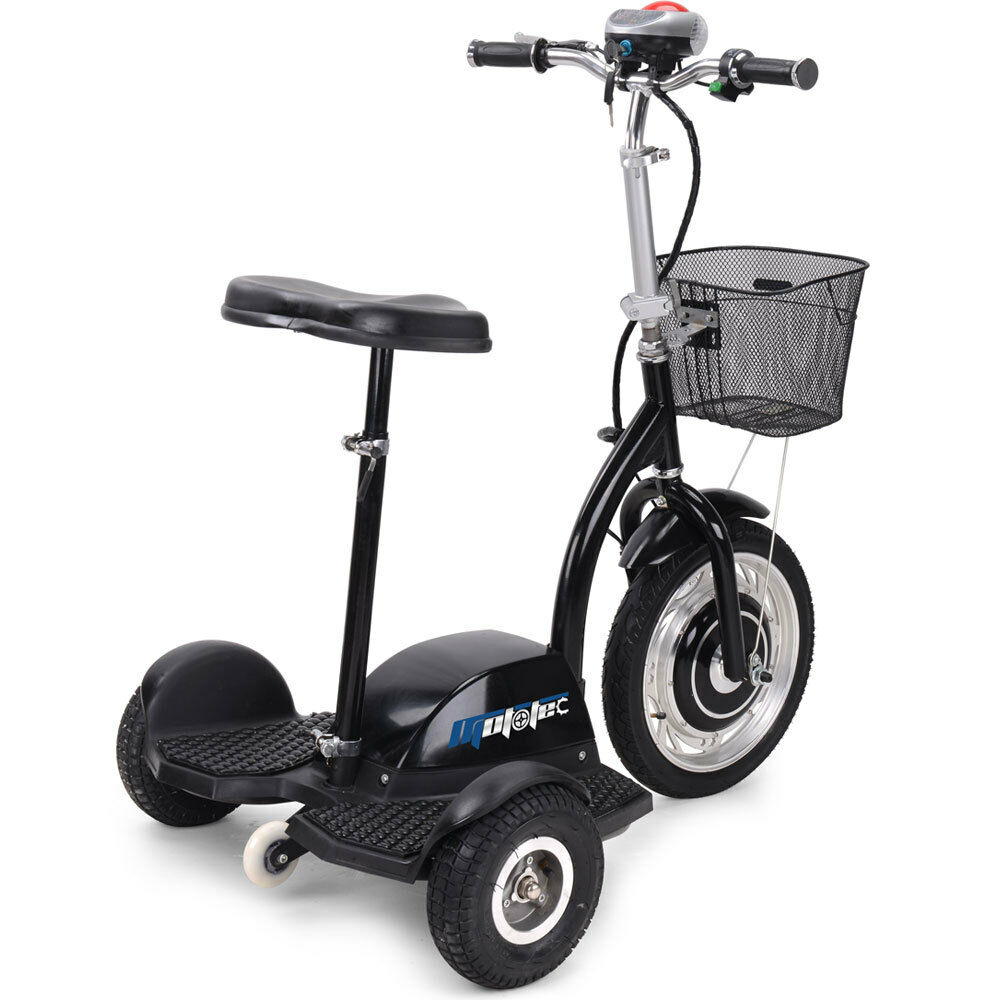 Electric mobility vehicle scooter mototec trike 350 watt for Mobility scooters