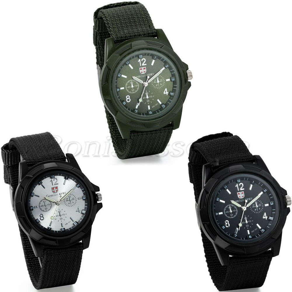 infantry military mens outdoor sport army quartz analog wrist watch nylon band ebay