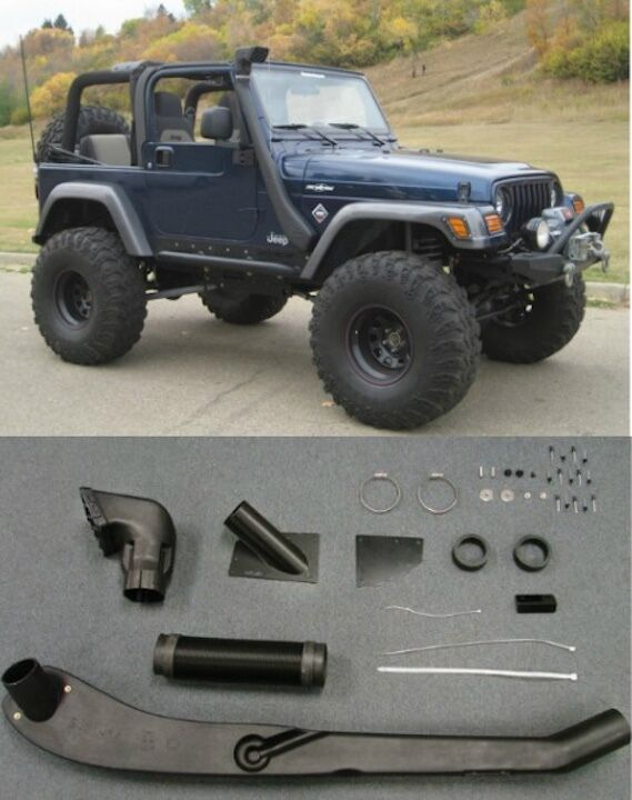 1999 2006 Jeep Wrangler Tj Yj Air Intake Snorkel Kit