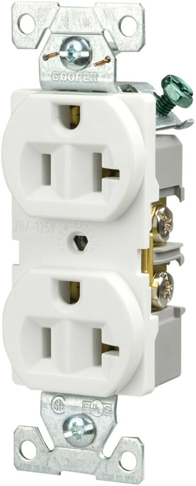 Cooper Wiring Devices BR20W 20-Amp 125-volt 3-Wire Duplex ...
