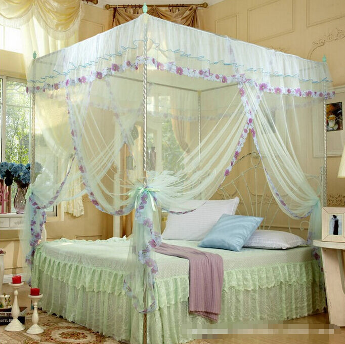 Sweet Dream 4 Corners Post Bed Canopy Mosquito Net For