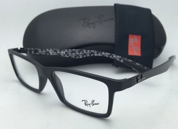 new ray ban eyeglasses tech series rb 8901 5263 53 17 black carbon
